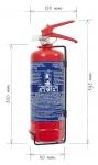Přenosný hasicí přístroj práškový 2 kg P2 BETA-L