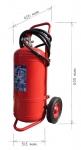Pojízdný hasicí přístroj práškový 50 kg