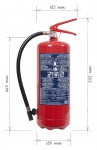 Přenosný hasicí přístroj práškový 6 kg  P6 BETA-Z