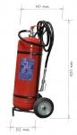 Pojízdný hasicí přístroj práškový 50kg