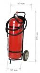 Pojízdný hasicí přístroj pěnový 50l