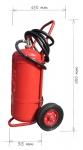 Pojízdný hasicí přístroj práškový 50kg - třída požáru D