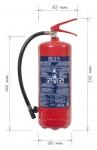 Přenosný hasicí přístroj práškový 6 kg P6 BETA-ZH
