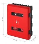 Dvojbox na hasicí přístroj