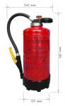 Práškový hasicí přístroj 6kg s tlakovou patronou
